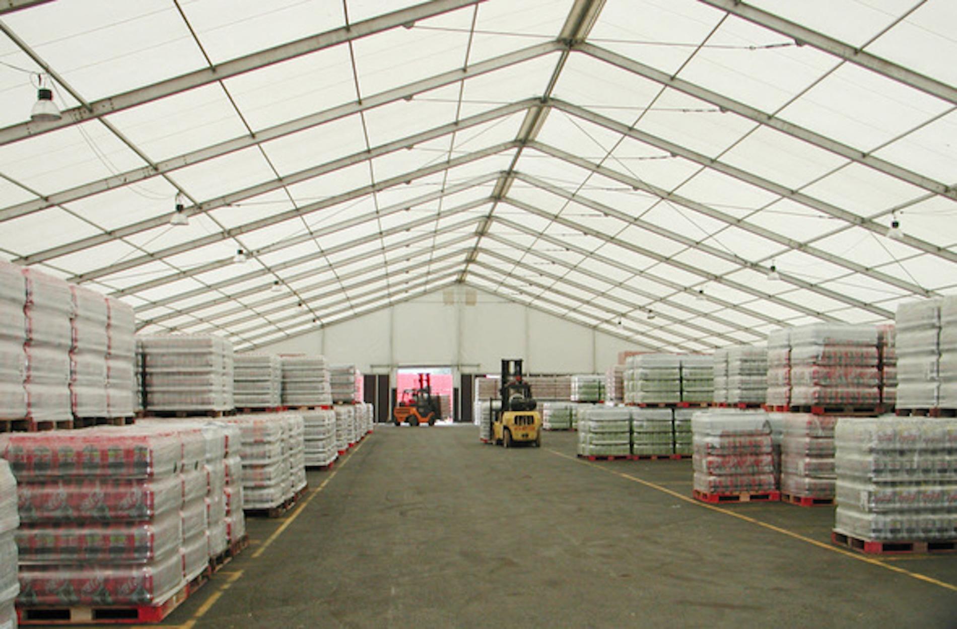 Tendas para armazenagem industrial